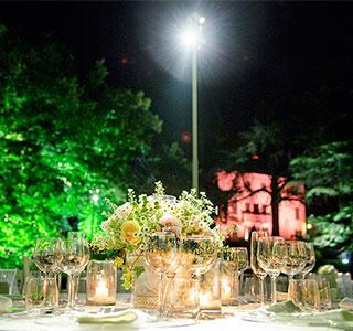 illuminazione evento matrimonio cena gala eventi