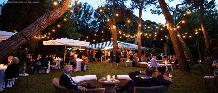 illuminazione eventi giardino lampadine