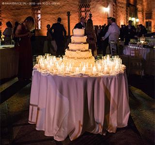 wedding cake light wedding outdoor party reception catajo castle