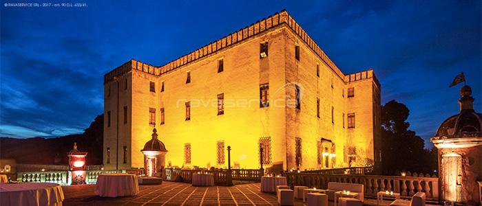 castello catajo padova illuminazione facciata terrazza