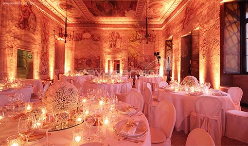 castello catajo padova lights interior rooms wedding events