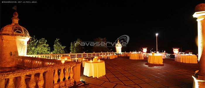 castello catajo padova luci terrazza