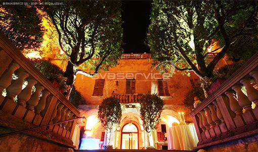 castello catajo padova lights park wedding