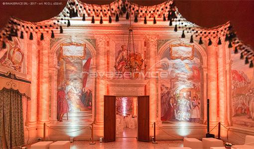 castello catajo padova illuminazione sale interne