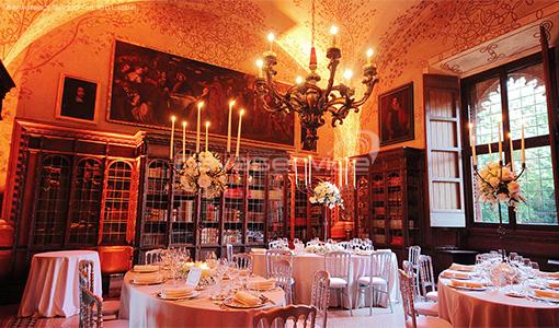 graziano visconti castle lighting gala dinner reception