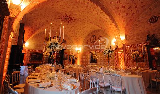 graziano visconti castle lighting event wedding