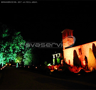 graziano visconti castle lighting park garden event