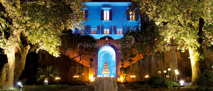l'esedra santo stefano genova wedding cake lighting