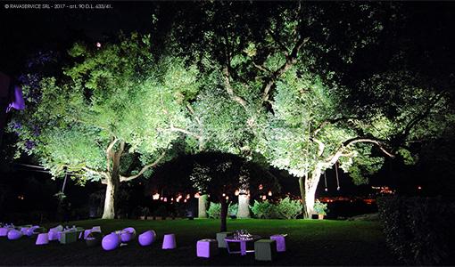 l'esedra santo stefano genova luci evento giardino