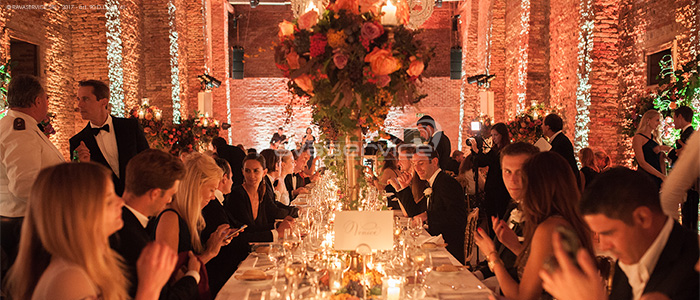 granai cipriani venice lighting dinner event wedding