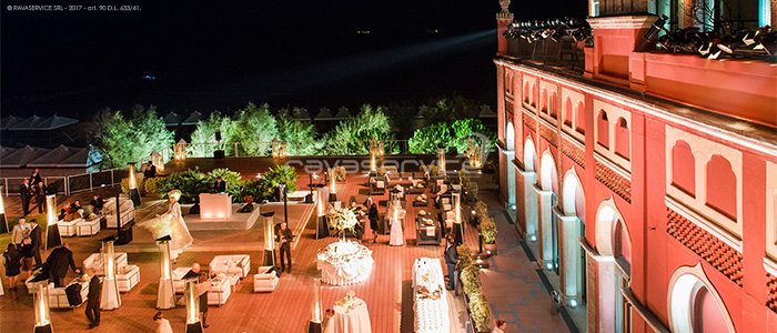 hotel excelsior lido venice event lights