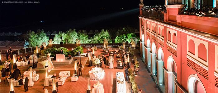 hotel excelsior lido venezia evento luci