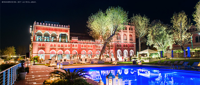 hotel excelsior lido venice lighting event set-up