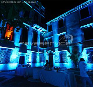 palazzo zeno venice lighting courtyard wedding