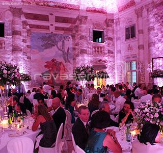 villa foscarini stra ricevimento cena gala illuminazione