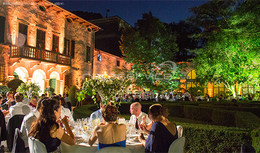 villa la mattarana verona lights wedding
