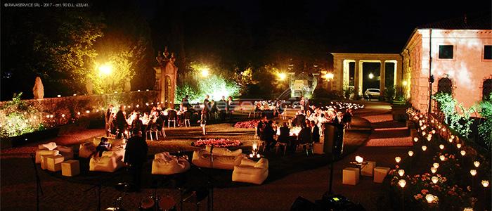 villa valmarana vicenza event lights garden