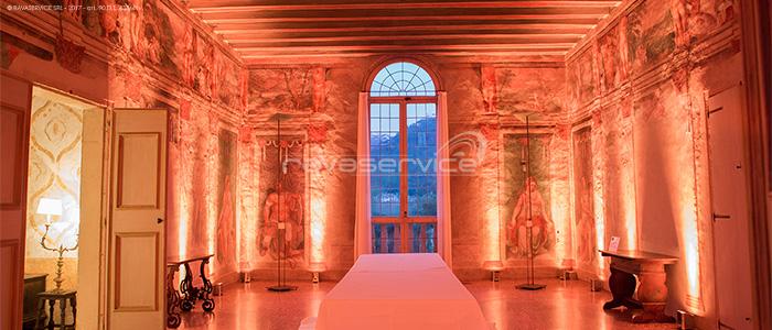 villa vescovi torreglia illuminazione sale evento matrimonio