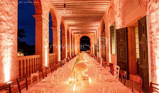 villa vescovi torreglia illuminazione evento matrimonio