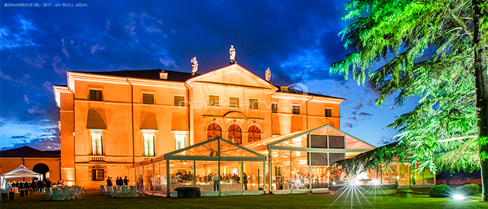 villa la favorita vicenza palladio light design event wedding