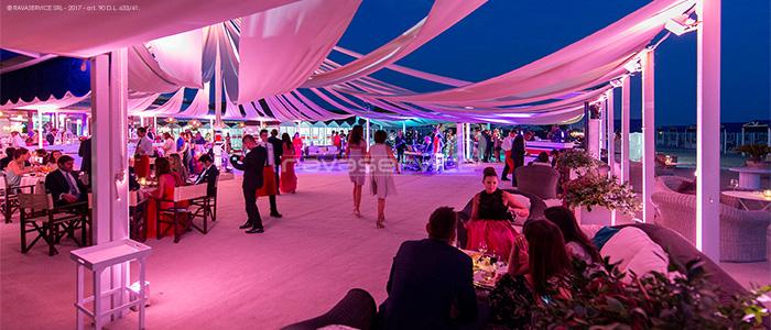 augustus beach illuminazione matrimonio