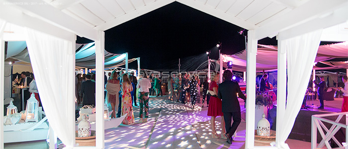 augustus beach illuminazione scenografica