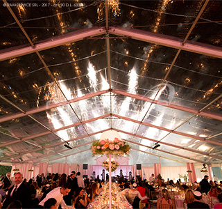 villa borromeo lighting tensile structure event