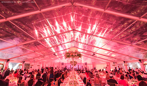 villa borromeo lighting party event wedding