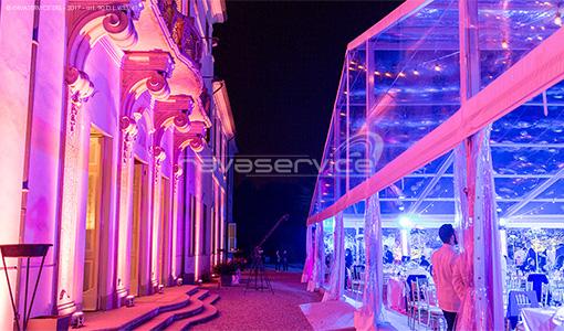 villa borromeo luci matrimonio evento