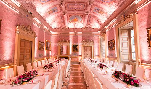 villa caroli zanchi lights gala dinner events