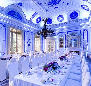 villa caroli zanchi lights wedding event