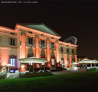 villa caroli zanchi façade lighting event