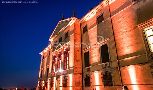 villa la favorita vicenza palladio illuminazione eventi matrimonio facciata