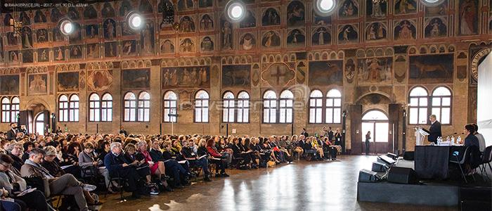 service audio video luci allestimento conferenza Padova palazzo ragione