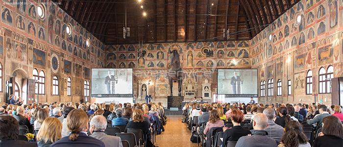service audio video luci allestimento evento aziendale Padova palazzo ragione
