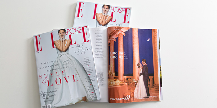 elle spose magazine periodico newspaper adv stampa light design wedding