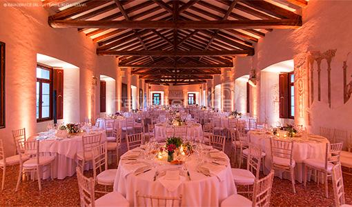 San Salvatore Castle, lighting, lights, light design, event, wedding