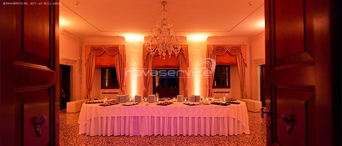 San Salvatore Castle, lighting, lights, light design, wedding, event
