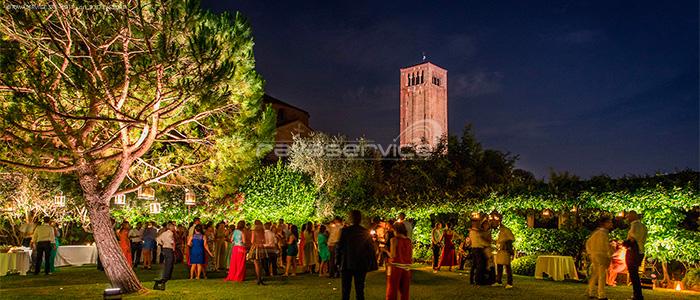 Locanda Cipriani, eventi, matrimoni, luci, illuminazione, Light Design