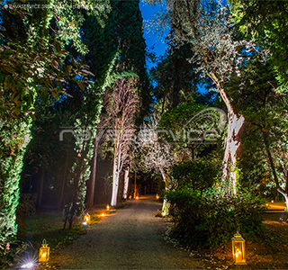 Isola del Garda, gala dinners, weddings, private parties, Light Design, light, lighting