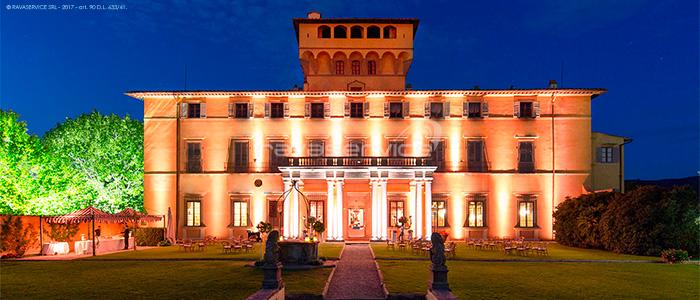 Villa di Maiano, Light Design, luci, illuminazione, evento, matrimoni