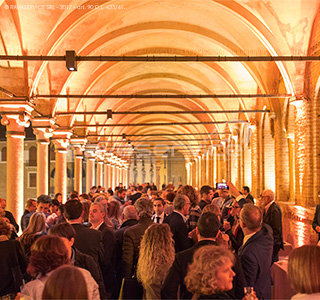 Palazzo della Ragione, multimedial installations, lights, video, audio, stages and structures