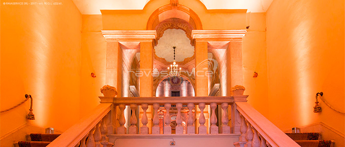 Villa Molin lights, lighting, Light Design, wedding, event, party