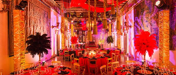 carnevale Venezia allestimento illuminazione ballo maschera palazzo contamini polignac