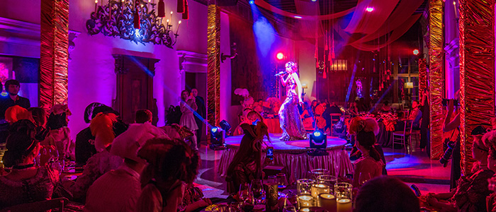 carnival venice dance mask lights palce contarini polignac