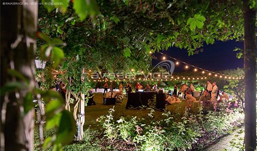 locanda cipriani Venezia torcello illuminazione luci cena matrimonio