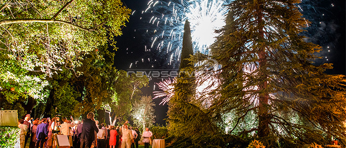 Garda Island Lake Garda Brescia wedding party fireworks