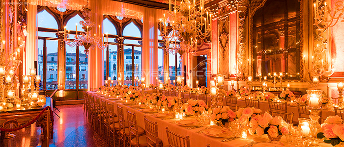 wedding event lights Venice palazzo pisani moretta