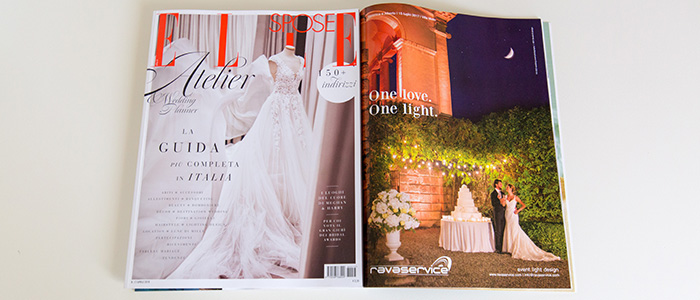 elle sposa bridal Ravaservice illuminazione light design magazine