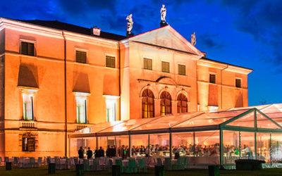 Un lussuoso party aziendale all'interno di una villa Palladiana a Vicenza